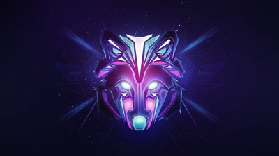 2048x1152 Wolf Colorful Minimalism 2048x1152 Resolution HD 4k Wallpapers, Images, Backgrounds ...