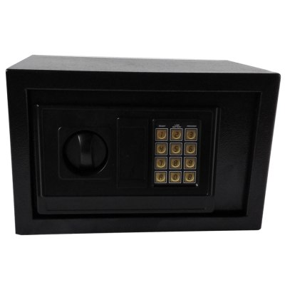 Small Digital Steel Safe Electronic Locking Money Strongbox Cash Box Keys Black | eBay