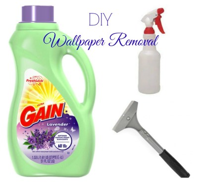 DIY Wallpaper Removal {what worked for me} | Hip N' Creative