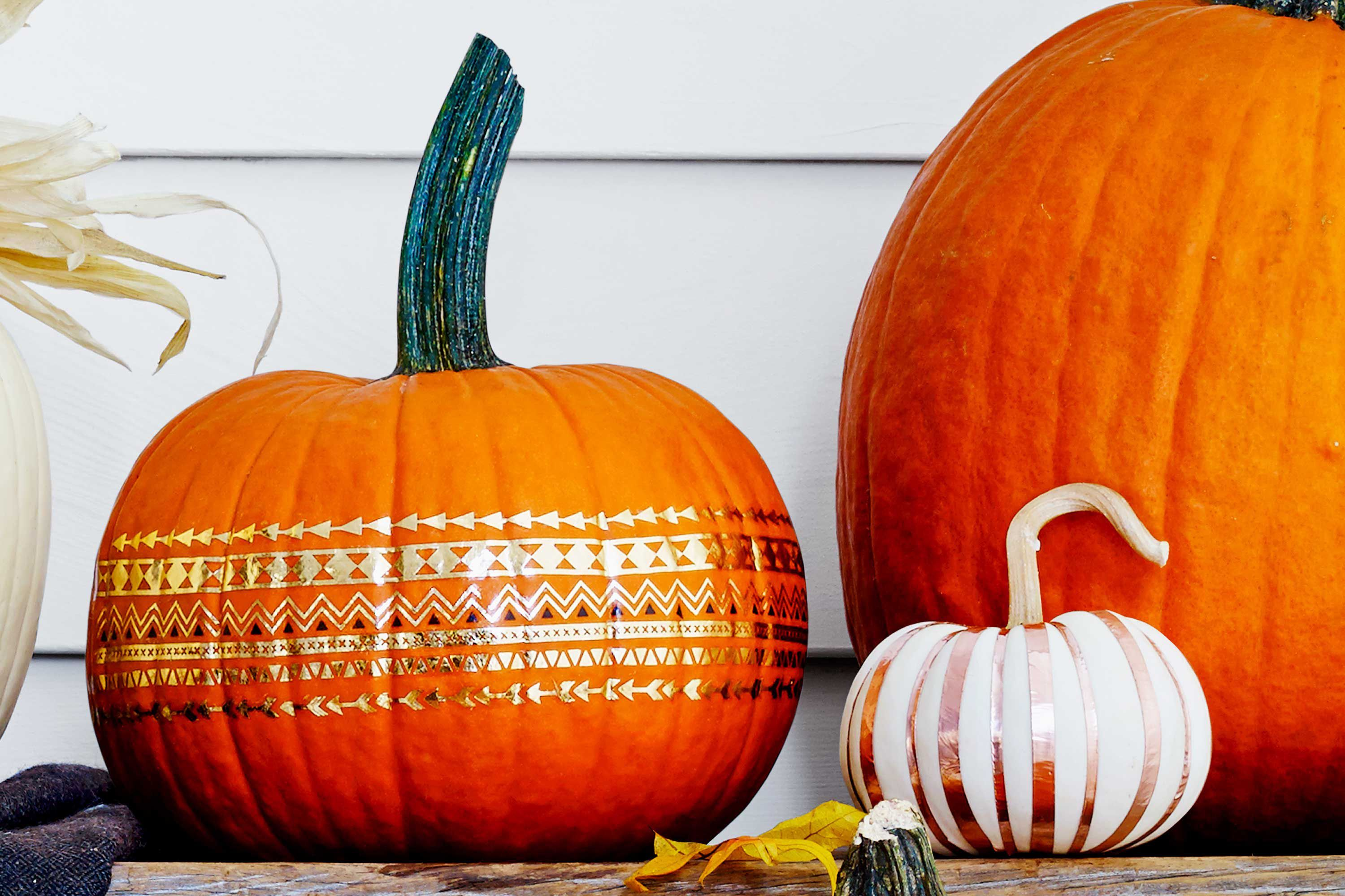 28 Best No Carve Pumpkin Decorating Ideas   Fun Designs for No Carve     no carve pumpkin ideas