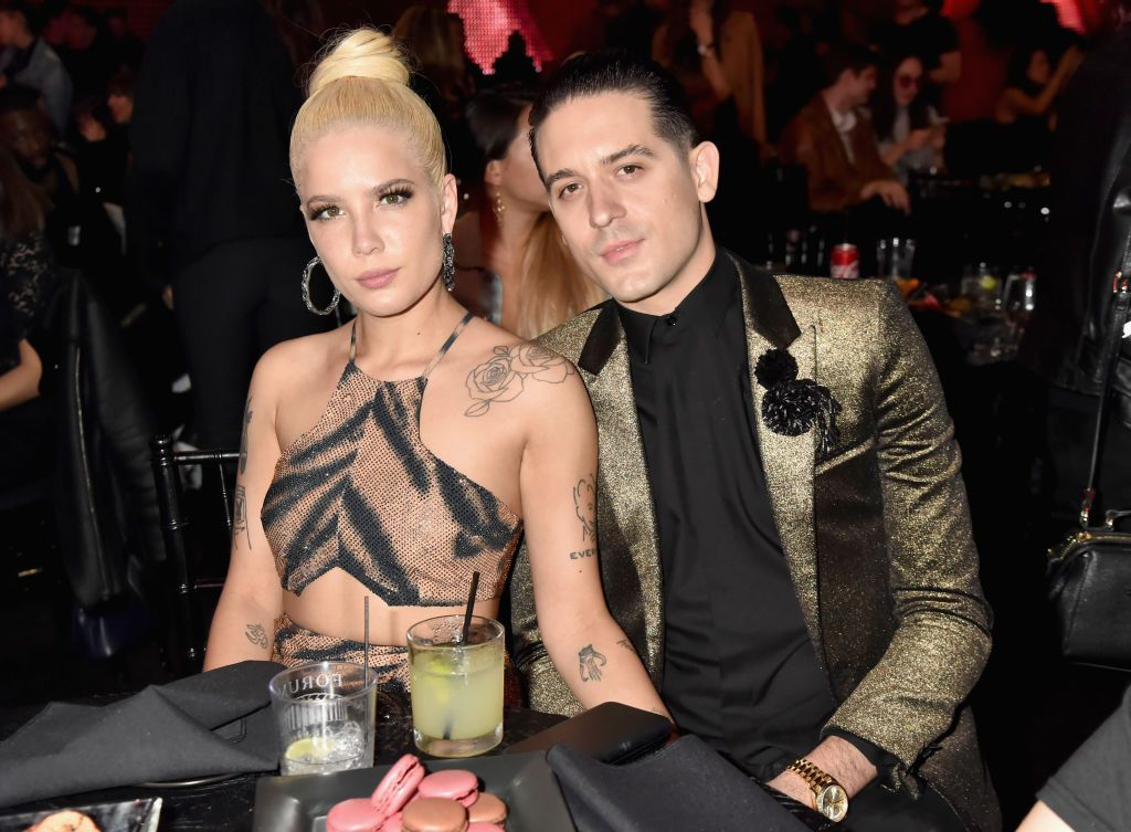 Halsey and G Eazy Had a Cute PDA Moment After the MTV VMAs halsey g eazy holding hands dating
