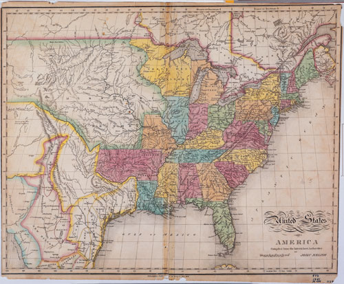 Melish s Map   Set 2  Mapping the Land   its People   Unit 1  The     Melish s Map of the United States  1820