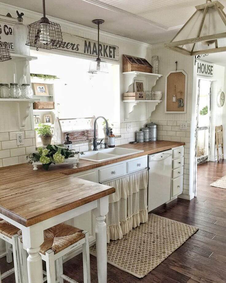 35  Best Farmhouse Interior Ideas and Designs for 2018 1  Framers Market Inspired Open Kitchen Concept