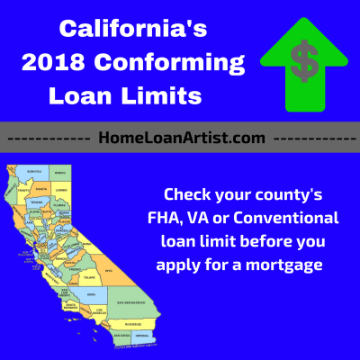 2018 FHA, VA, Conventional California County Loan Limits | California Mortgage Broker