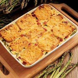 Asparagus Cheese Strata Main Dish Recipe | Taste of Home