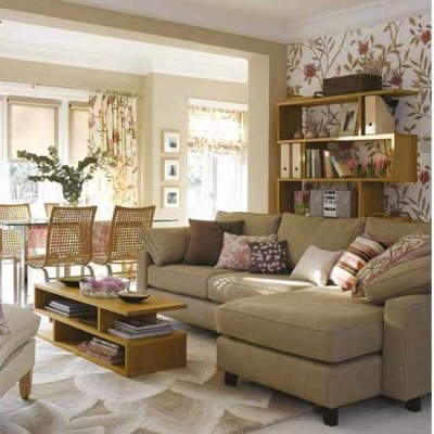 Living room with stylish wallpaper | Living room funriture | Decorating ideas | housetohome.co.uk