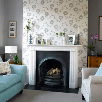 How to wallpaper a chimney breast