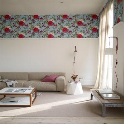 Living room with wallpaper border | Wallpaper ideas for living rooms | housetohome.co.uk