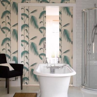 Tranquil fern print wallpaper | Bathroom wallpapers | housetohome.co.uk