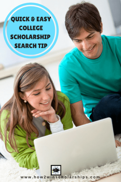 Quick Easy College Scholarship Search Tip