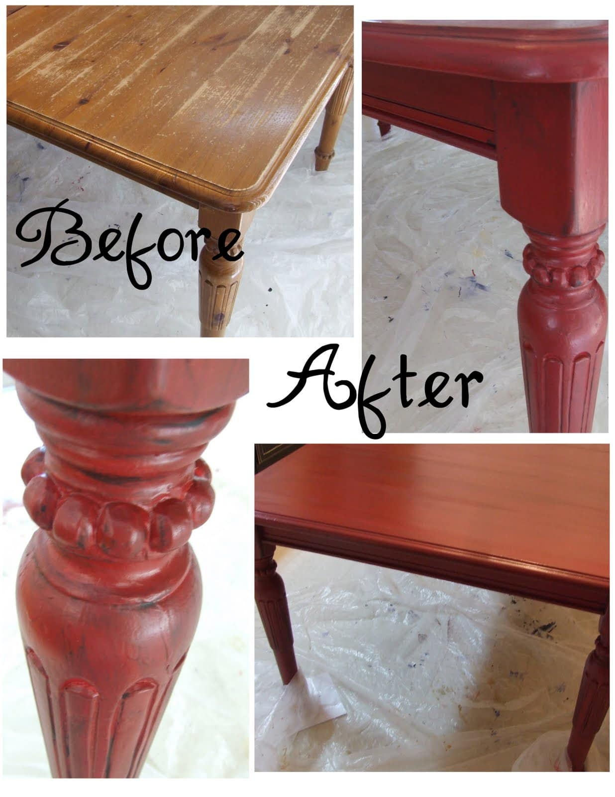 get inspired kitchen table makeovers painting kitchen table Painted Kitchen Table from Lemonade