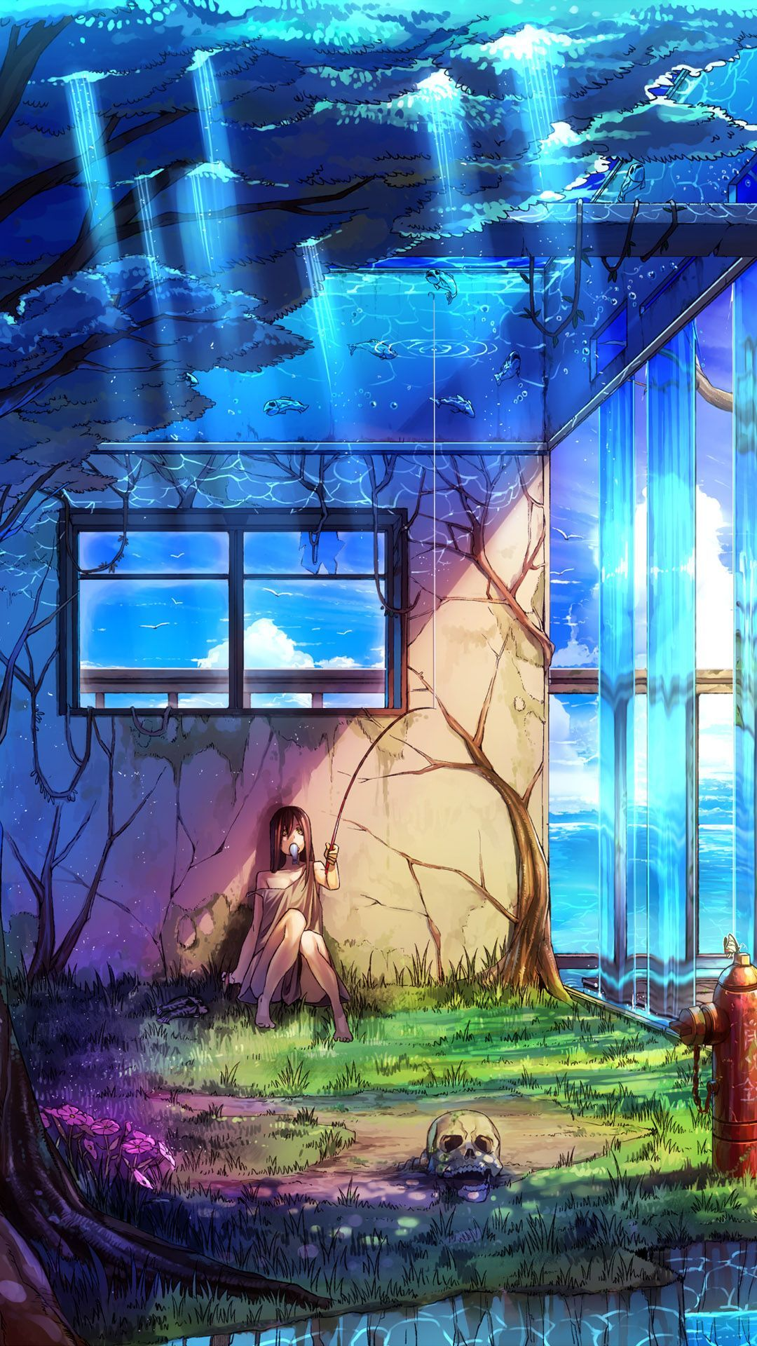 Upside down fishing anime - Best htc one wallpapers, free and easy to download