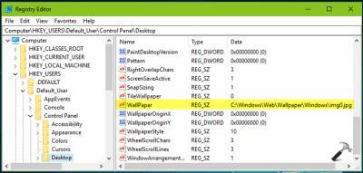 [How To] Change Windows 10 Desktop Wallpaper Using Registry