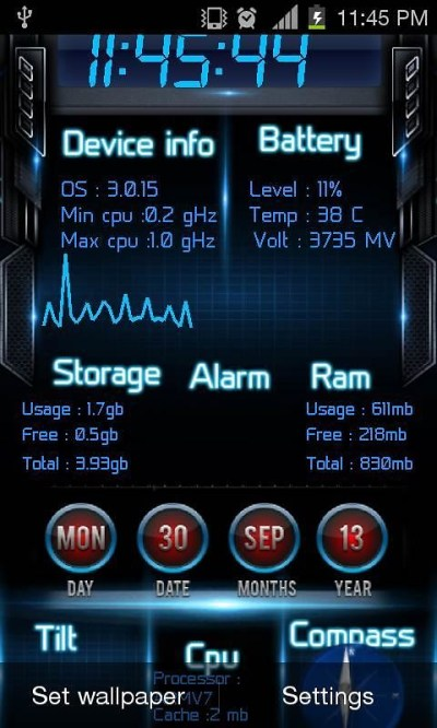 Device Info Live Wallpaper Free Android Live Wallpaper download - Appraw