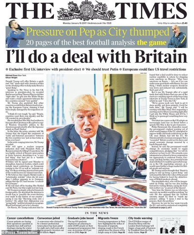 Theresa May welcomes Donald Trump´s promise of quick trade deal with UK | Daily Mail Online