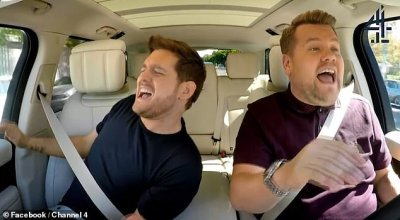 Michael Buble sings with James Corden on Carpool Karaoke special for Stand Up To Cancer UK ...