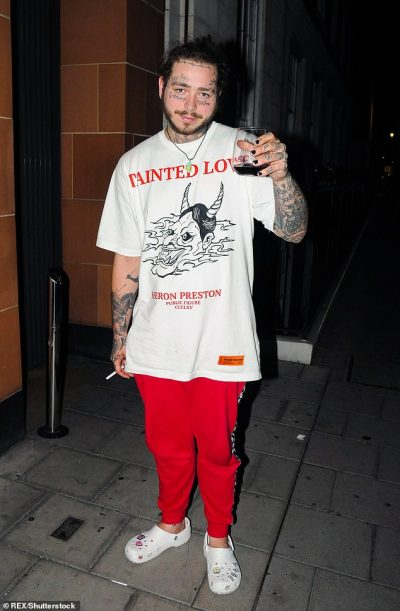 Post Malone's collaboration with Crocs has SOLD OUT just hours after launch | Daily Mail Online