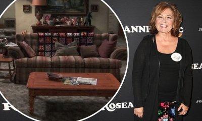Roseanne Barr dons patchwork skirt at Burbank premiere ...