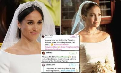 Meghan Markle's wedding dress being compared to Jennifer ...