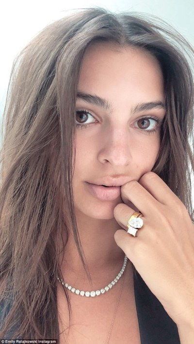 Emily Ratajkowski flaunts HUGE engagement ring for first time | Daily Mail Online