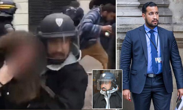 Emmanuel Macron deputy chief staff Alexandra Benalla caught dressing     Emmanuel Macron deputy chief staff Alexandra Benalla caught dressing as  police to attack protesters   Daily Mail Online