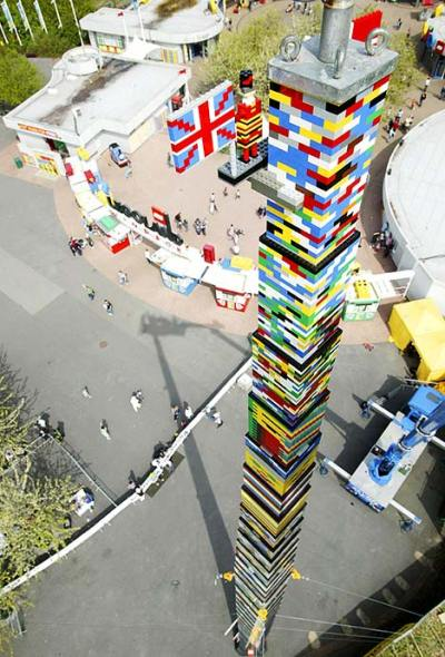 The world's tallest Lego tower which took 500,000 bricks to build   Daily Mail Online