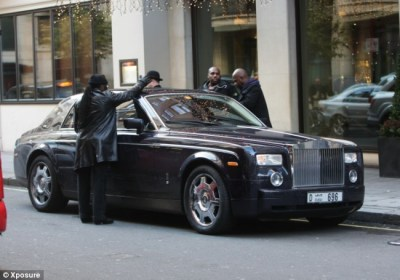 50 Cent left red-faced as team of security guards break into his Rolls-Royce with coat hanger ...