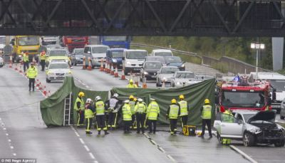 M40 crash: Woman burned to death at Buckinghamshire on motorway after Porsche careered into car ...