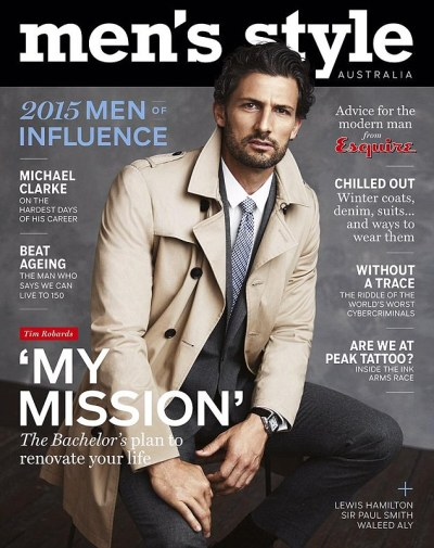 Tim Robards becomes first man to cover Men's Style ...