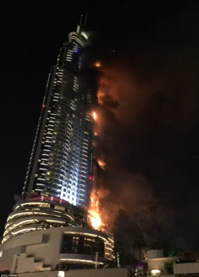 Dubai hotel fire investigators probe cause of New Year's ...