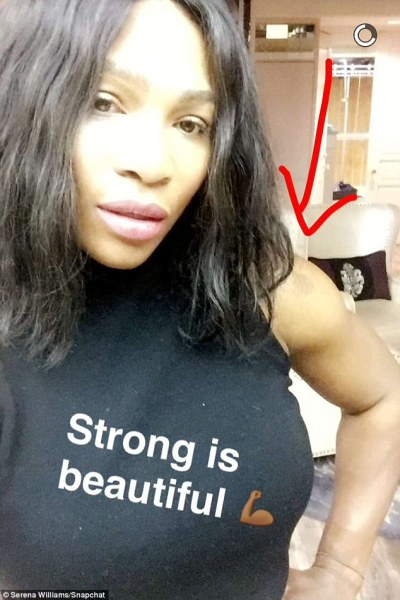 Serena Williams shows off her toned body on Snapchat wearing a daring cut-out swimsuit | Daily ...