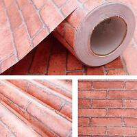 Brick Stone Pattern Vinyl Self Adhesive Wallpaper Roll Peel Stick Contact Paper | eBay