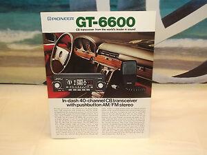 Vintage Pioneer GT 6600 CB Car Stereo Original Catalog Magazine Brochure   eBay