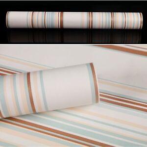 Mediterranean Stripe Home Self-adhesive Wallpaper Drawer Liner Contact Paper 10M   eBay