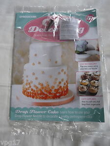 DeAGOSTINI CAKE DECORATING MAGAZINE DROP FLOWER   LEAF NOZZLES No 25     Image is loading DeAGOSTINI CAKE DECORATING MAGAZINE DROP FLOWER amp LEAF