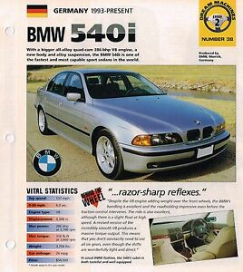 BMW Auto BROCHURES   Road Tests IMP Collection  5 Series 750i Alpina     Image is loading BMW Auto BROCHURES Road Tests IMP Collection 5
