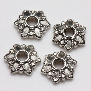 100Pcs Tibet Silver Plated Alloy Metal Spacer Bead Caps Jewelry Findings DIY 7mm | eBay