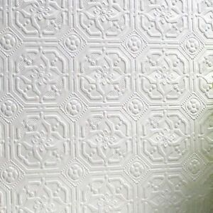 RD124 Anaglypta Paintable Textured Wallpaper Wallcovering Derby