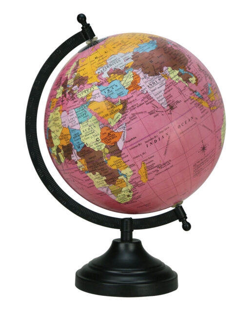 Rotating World Map Globes Table Decor Ocean Geographical Earth     ROTATING WORLD MAP GLOBES TABLE DECOR OCEAN GEOGRAPHICAL EARTH DESKTOP  GLOBE3797