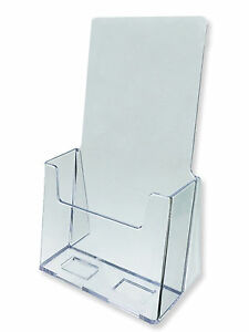 Acrylic Literature Brochure Holder for 4x9    20 pack   eBay Image is loading Acrylic Literature Brochure Holder for 4x9 034 20
