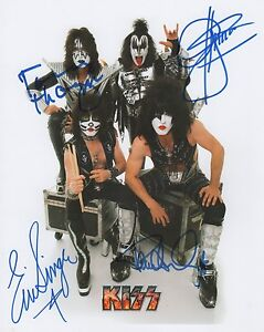 Kiss Band signed 8x10 inch photo autographs   eBay Image is loading Kiss Band signed 8x10 inch photo autographs