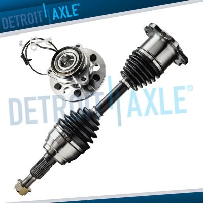NEW Front Wheel Hub and Bearing Chevy 6Lug W/ABS + Front CV Axle Drive Shaft 4x4 | eBay