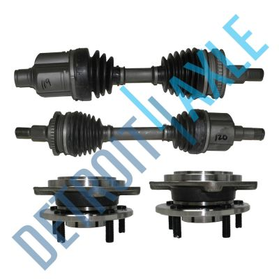 BOTH Front CV Axle Drive Shafts ABS+New 2 Wheel Hub+Bearing Assembly 4 spd Auto | eBay
