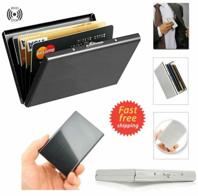 Compact Front Pocket Slim Credit Card Holder Thin RFID Block Wallet Money Cash | eBay