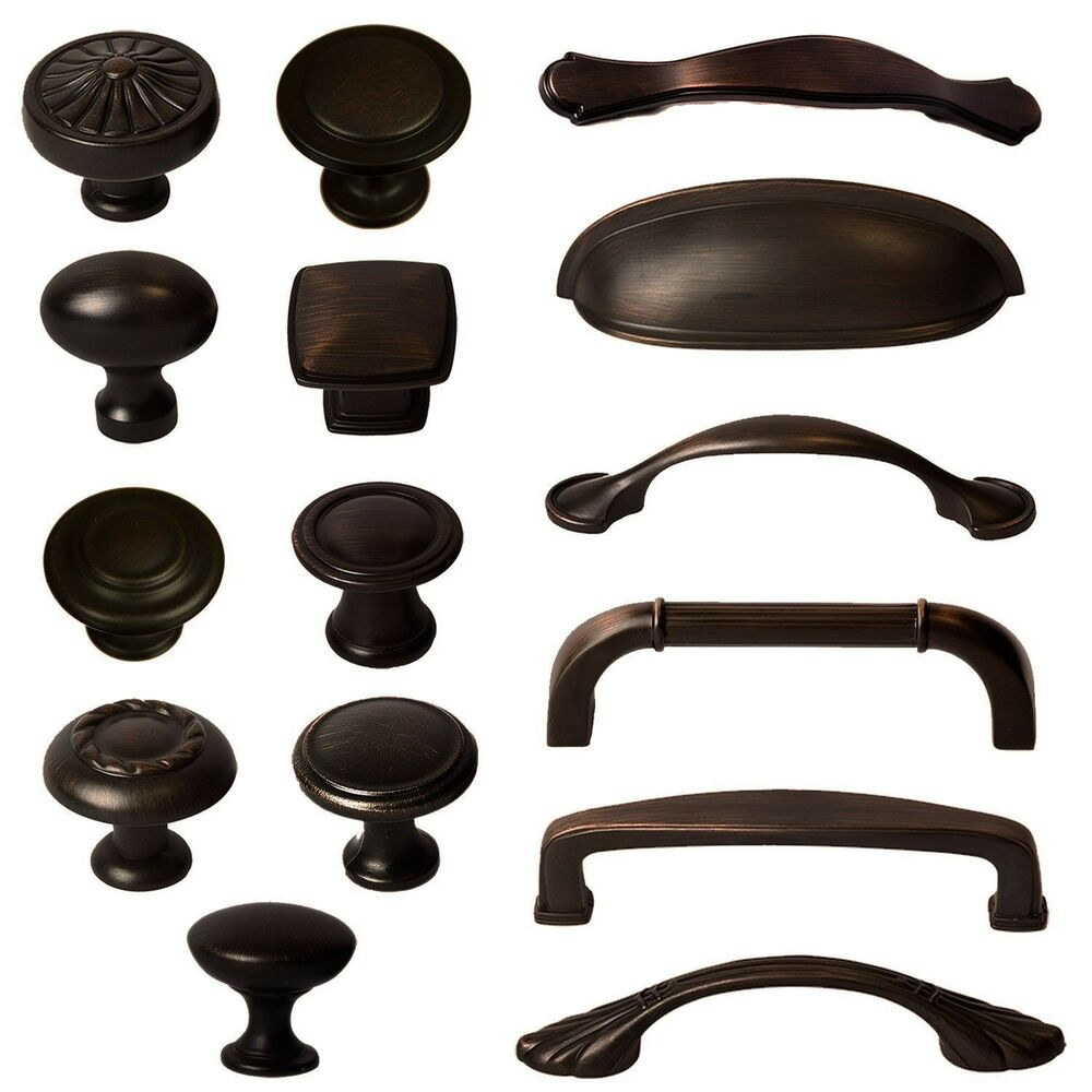 kitchen cabinet knobs Cabinet Hardware Knobs Bin Cup Handles and Pulls Oil Rubbed Bronze eBay