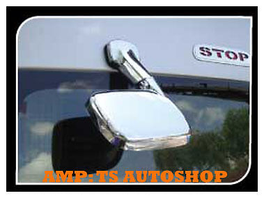 CHROME TAIL REAR VIEW MIRROR FOR VAN TOYOTA HIACE COMMUTER 2005-2013 | eBay