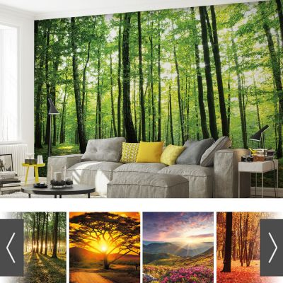 FORESTS NATURE FLOWERS PHOTO WALLPAPER MURAL | eBay