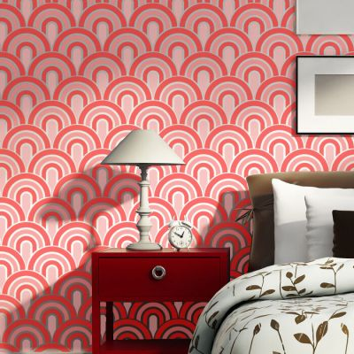 Wall Stencils Scallop Pattern Allover stencil for Painting better than wallpaper | eBay