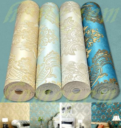 3D Damascus Style Wallpaper Rolls Patterned Mural Decoration for Living Bed room | eBay
