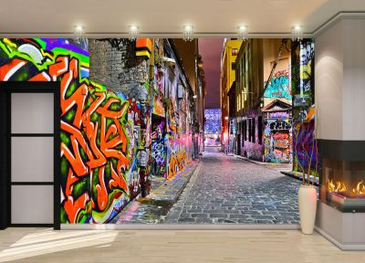 Night view -Graffiti Artwork Wall Mural Photo Wallpaper GIANT DECOR Paper Poster 7104699811701 ...